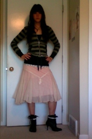 Dollhouse shoes - none skirt - J Crew top - H&M jacket
