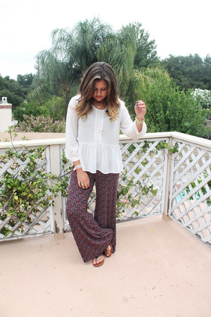 white francescas blouse - maroon Lucky Brand pants