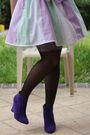 Purple-diy-dress-purple-novo-shoes-beige-ebay-hat-beige