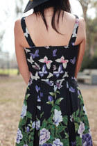 forest green vintage 1960s dress