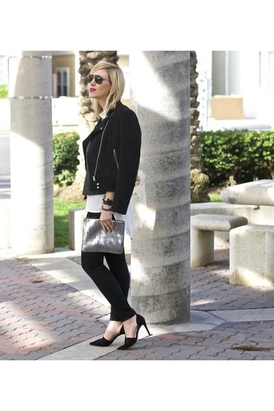 blouse Forever 21 blouse - jeans True Religion jeans - black heels Zara heels