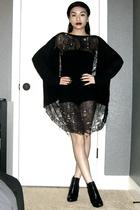 Max AzriaDIY dress - American Apparel intimate - Jessica Simpson boots