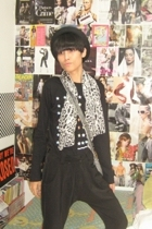 Zara top - Zara pants - Zara hat - vintagemom closet scarf - Zara accessories