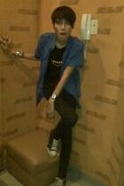 Topman shirt - Topman t-shirt - Mango jeans - Converse shoes - custom made acces