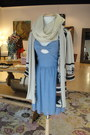Sky-blue-many-belles-down-dress-beige-alternative-apparel-scarf