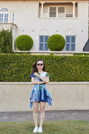 Family Affairs dress - denim Saba shirt - Rebecca Minkoff bag