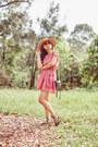 Vintage-dress-forever-21-hat-rebecca-minkoff-bag-zara-flats