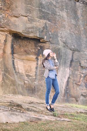 dieppa restrepo shoes - neuw jeans - wool beanie handmade hat - Glassons blazer