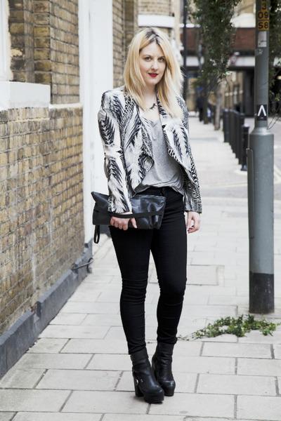 black platform Miista boots - black skinny Miss Selfridge jeans