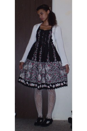black Alice and the Pirates dress - black Guess shoes - white Forever21 tights