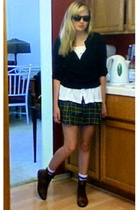 Gap sweater - Target blouse - vintage skirt - Ebay shoes