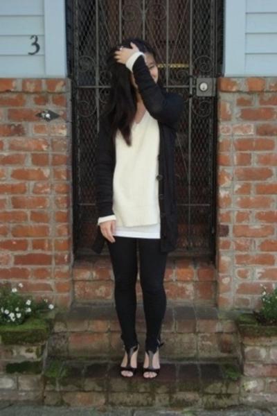 Gap sweater - Aldo leggings - Nine West shoes