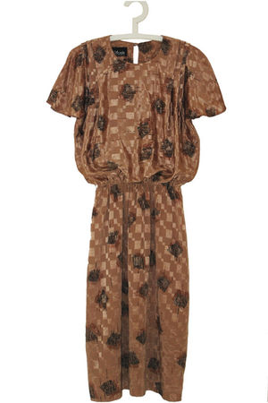 brown woozwass dress