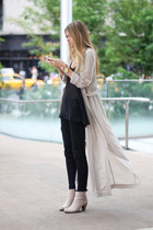 beige boots boots - long cardigan cardigan - pants - top