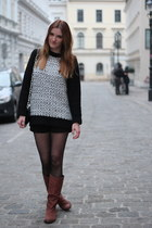 asos boots - chains acne bag - Mango jumper