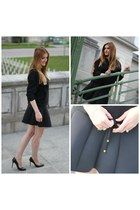 black &otherStories skirt - black Zara jumper - black Zara heels