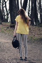 yellow oversized H&M t-shirt - black black hardware Alexander Wang bag