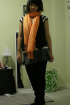 Free Bird t-shirt - Suzy Shier vest - Bongo skirt - leggings - scarf - boots