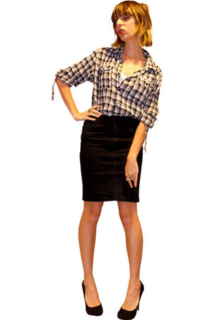 white Heritage 1981 Men shirt - black H&M skirt - black michael antonio shoes -
