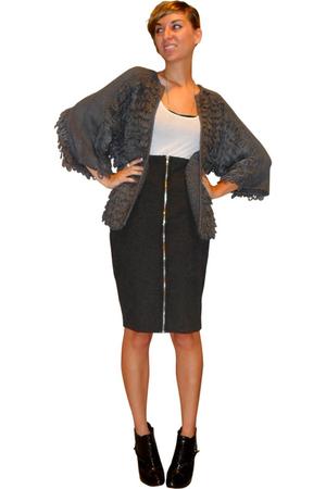 asos sweater - Stephanie B top - H&M skirt - forever 21 boots - forever 21 bra -