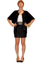 covet jacket - Express top - forever 21 belt - forever 21 skirt - Arturo Chiang