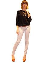 gray banana republic pants - black Thakoon for Target sweater - brown H&M belt -