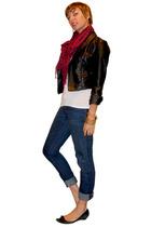 Silence & Noise blazer - scarf - vintage t-shirt - Earnest Sewn jeans - Arturo C
