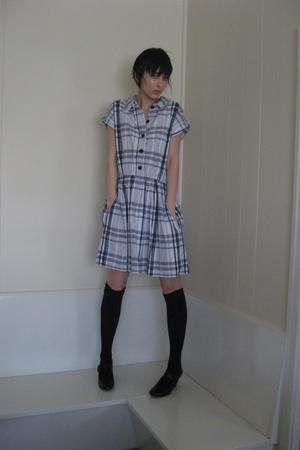 dress - Myer socks - shoes - st vincents necklace