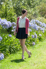 Red-berry-shirt-vintage-cardigan-lovely-heart-skirt-therapy-heels