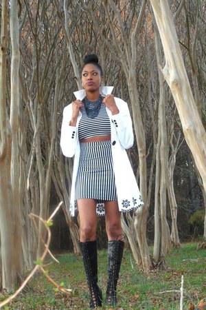 Forever 21 dress - thrifted coat