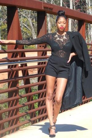 Goodwill coat - H&M shorts - Goodwill blouse - Target heels