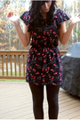 Black-goodwill-cardigan-blue-forever-21-dress-gray-tights-black-vintage-sh