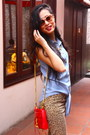 Brown-h-m-pants-red-rebecca-minkoff-purse-sky-blue-warehouse-top