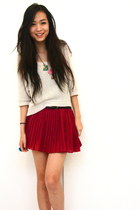 magenta gifted skirt - eggshell boutique top