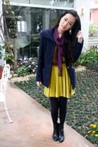 mustard NET dress