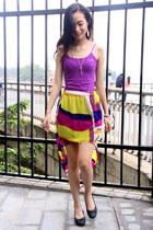 amethyst tailor skirt - amethyst Forever 21 top