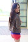 Coral-local-boutique-shorts-army-green-local-boutique-blazer