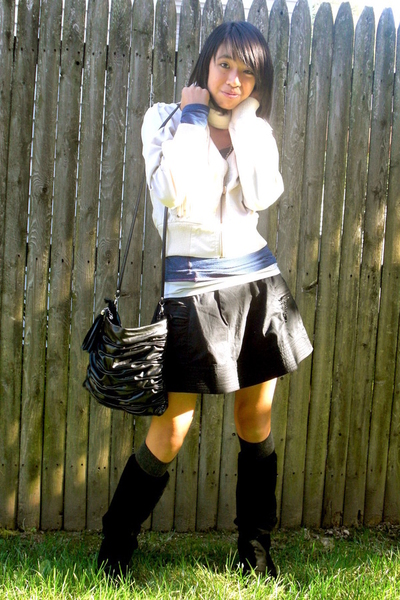 forever 21 jacket - Steve Madden shoes - American Rag skirt - Aldo purse