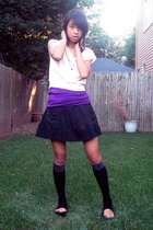 top - forever 21 top - American Rag skirt - forever 21 socks