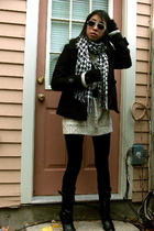vintage sweater - H&M coat - payless shoes