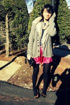 pink Forever 21 skirt - silver H&M sweater - brown sam edelman shoes - beige H&M