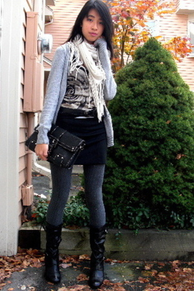 H&M sweater - forever 21 top - Chinese Laundry purse - Urban Outfitters scarf