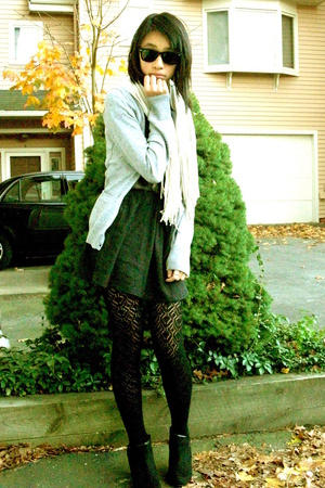 Ray Ban sunglasses - H&M sweater - homemade dress - f21 tights - payless shoes
