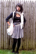 American Rag skirt - Urban Outfitters scarf - kenji sweater - shirt