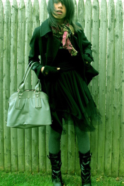 H&M coat - scarf - socks - Emilie purse - Walmart tights - H&M gloves
