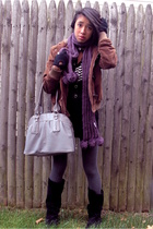 coat - forever 21 scarf - forever 21 top - Walmart tights - Steve Madden shoes