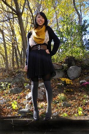 light pink Marshalls shirt - gray Target socks - black Forever 21 skirt - mustar