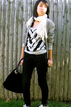 Forever21 sweater - blazer - Forever21 jeans - Aldo Acessories purse
