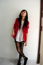 top - jacket - stockings - Endorse boots