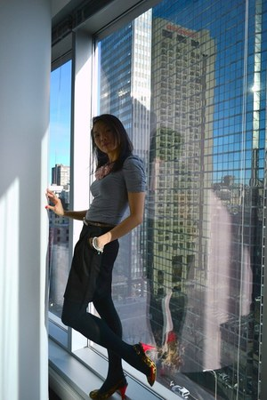 H&M t-shirt - Zara skirt - killah heels - H&M necklace